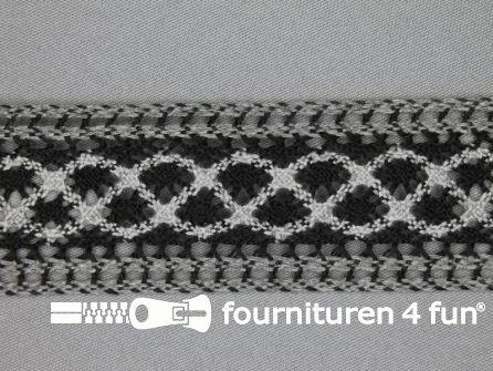 Kloskant 39mm zwart - grijs