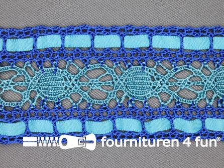 Kloskant 48mm lint kobalt - licht blauw