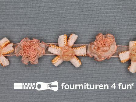 Bloemenkant 26mm zalm oranje