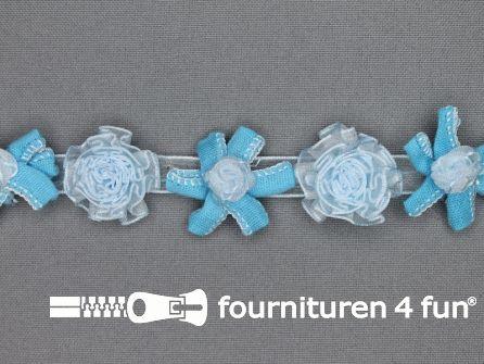Bloemenkant 26mm licht blauw
