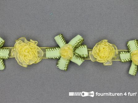 Bloemenkant 26mm lime groen