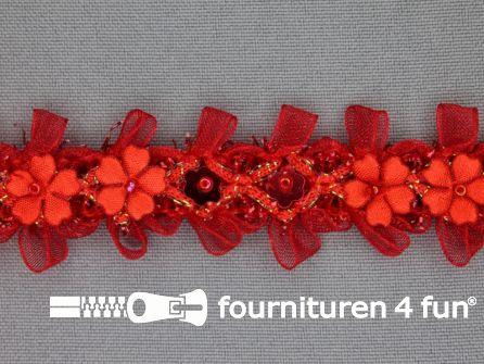 Bloemenkant 27mm rood