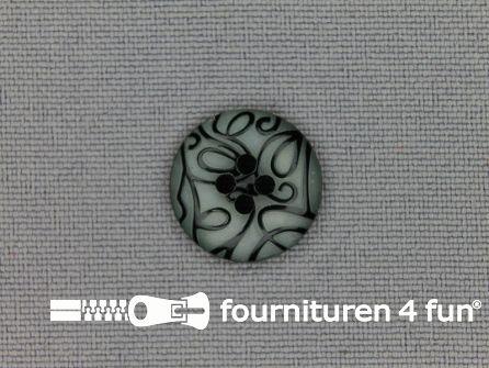 Design knoop 15mm krullen licht grijs