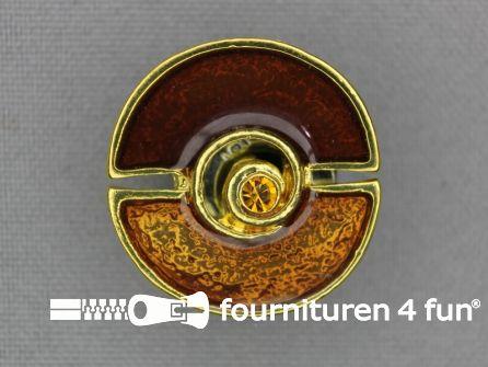 Design knoop 25mm brique - goud