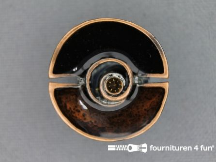 Design knoop 25mm bruin - rosé