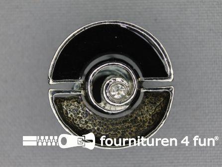 Design knoop 25mm grijs - chroom