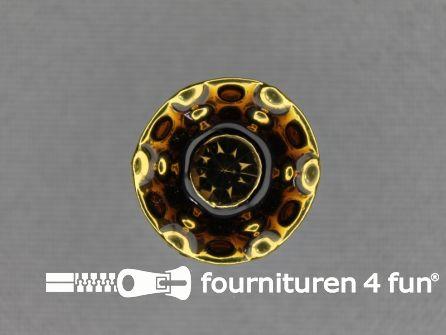 Design knoop 17mm brique - goud
