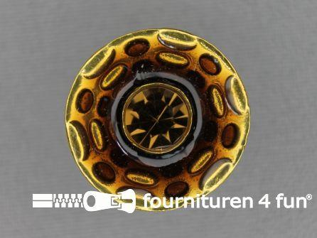 Design knoop 23mm brique - goud