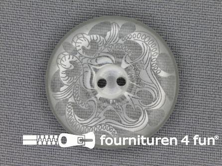 Design knoop 30mm licht grijs