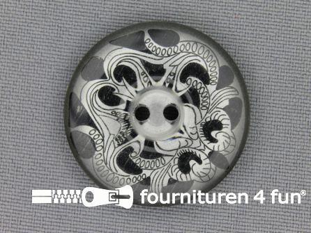 Design knoop 30mm donker grijs