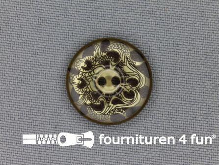 Design knoop 20mm bruin