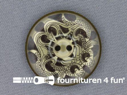 Design knoop 30mm bruin