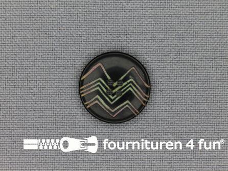 Design knoop 18mm zigzag zwart