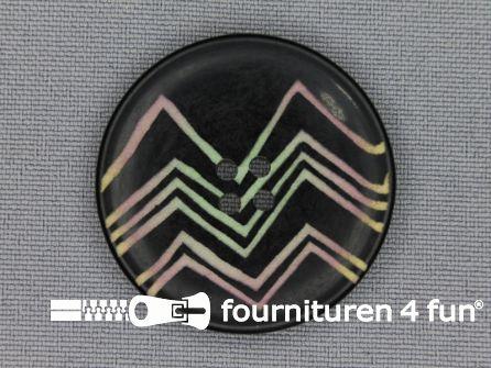 Design knoop 35mm zigzag zwart