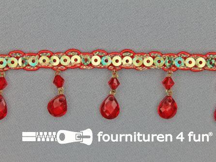Ibiza franje 30mm rood