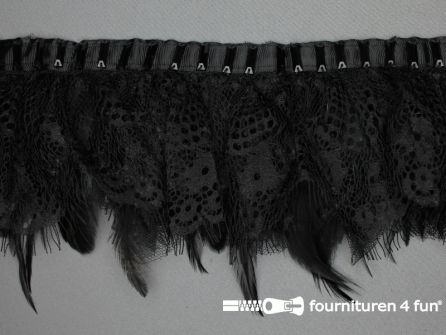 COUPON 1.4 meter Verenband 100mm met zwart kant
