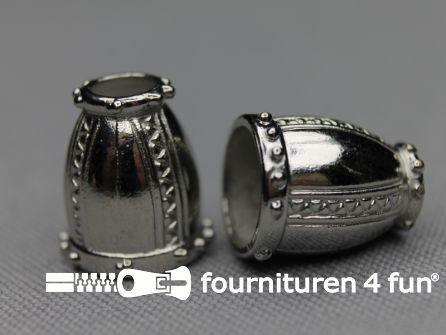 Metalen koord uiteinde 16mm chroom