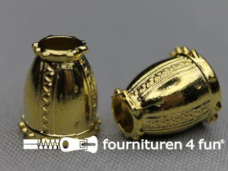 Metalen koord uiteinde 16mm goud