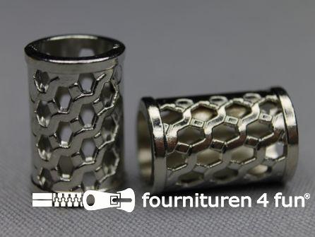 Metalen koord uiteinde 20mm chroom