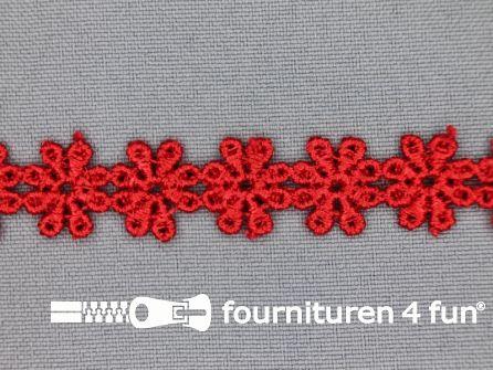 Bloemenkant 14mm rood