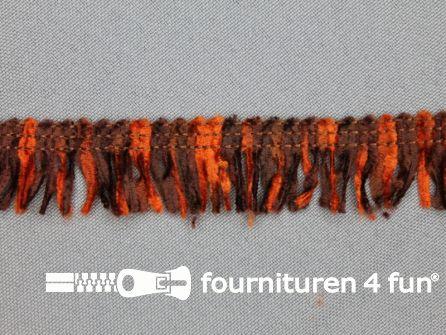 Acryl franje 20mm bruin tinten