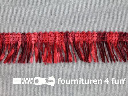 Acryl franje 20mm bordeaux rood tinten