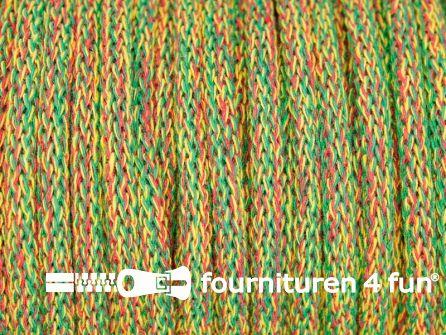 Jassen koord 8mm rood - geel - groen