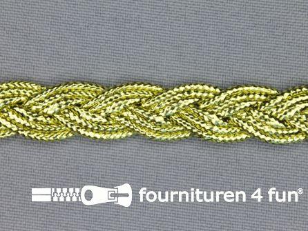 Goud band 10mm gevlochten