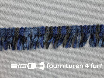 Acryl franje 20mm donker blauw tinten