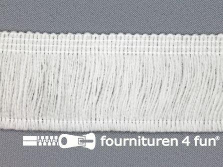 Acryl franje 40mm off white