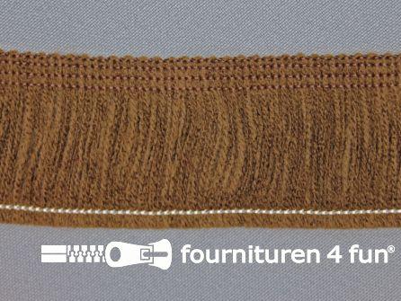 Acryl franje 40mm donker bruin