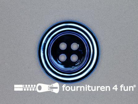Clown knoop metallic 54mm hemels blauw