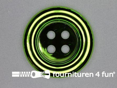 Clown knoop metallic 72mm lime groen
