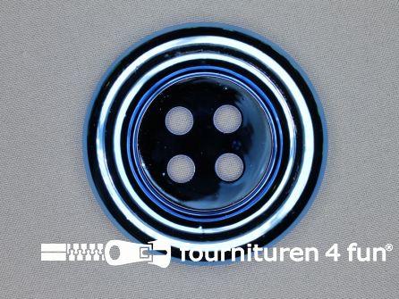 Clown knoop metallic 72mm hemels blauw