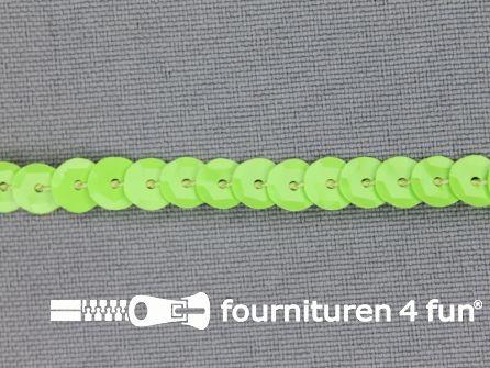 Pailletten band 6mm glitter lime
