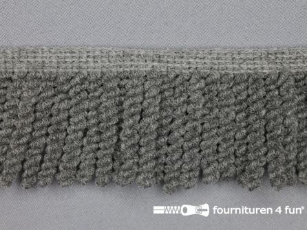 Elastische franje 55mm grijs