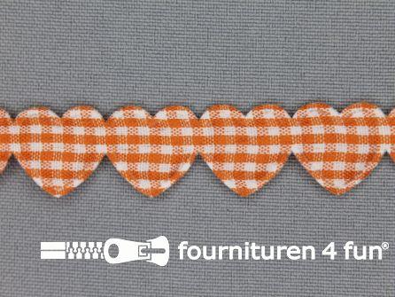 Guirlande hartjes 15mm oranje