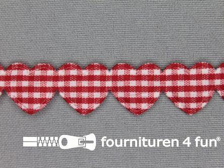 Guirlande hartjes 15mm rood