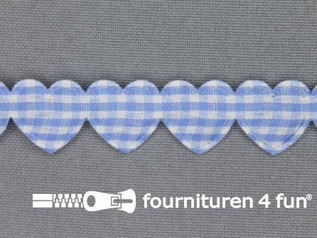 Guirlande hartjes 15mm licht blauw