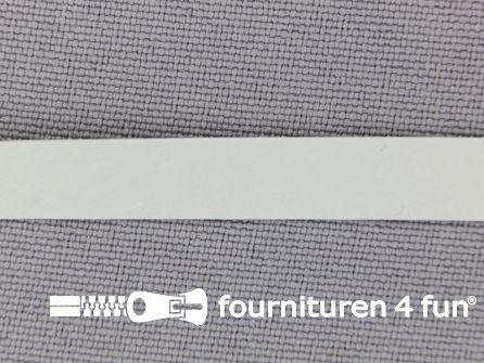 Naakte elastiek 8mm wit 1 meter