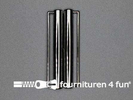 Inhaakgesp 80mm zwart zilver