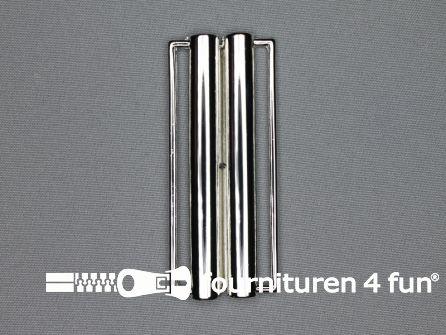 Inhaakgesp 80mm  zilver