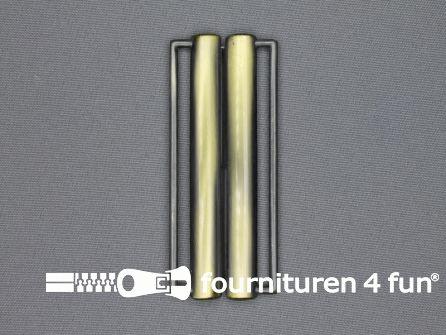 Inhaakgesp 80mm geel brons