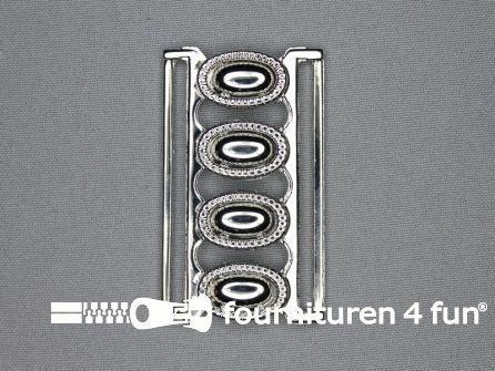Inhaakgesp 60mm zilver