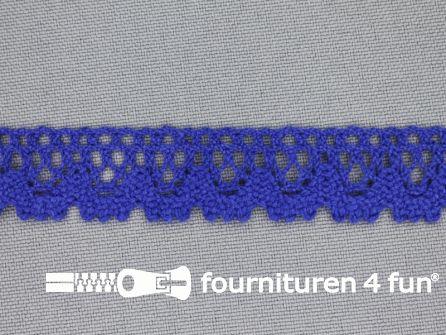 Ibiza broderie 16mm kobalt blauw