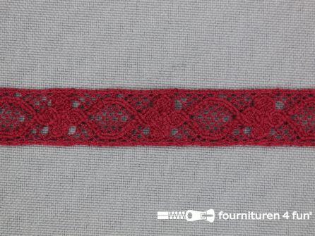 Ibiza broderie 13mm bordeaux rood