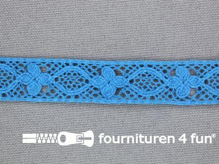 Ibiza broderie 13mm aqua blauw