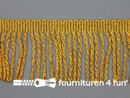 Goud franje grof 70mm