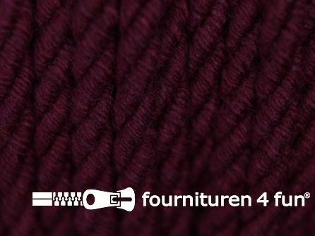 Katoenen meubel koord 5mm bordeaux rood