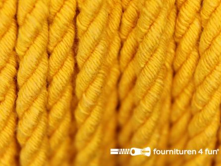 Katoenen meubel koord 5mm geel